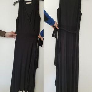 Loft Black maxi Wrap Dress Size Small